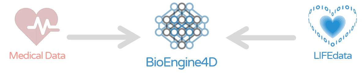 Transfer Lifedata to BioEngine4D and into Medical Data